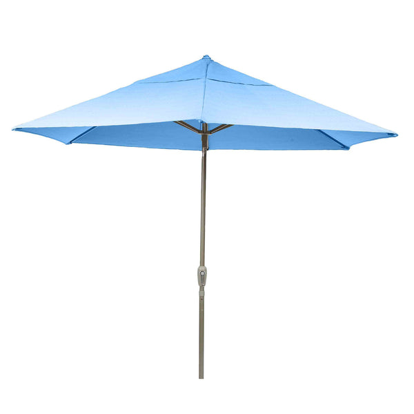 Bracken Outdoors Soleil Blue 2.7m Crank and Tilt Graphite 34mm Pole Round Garden Parasol