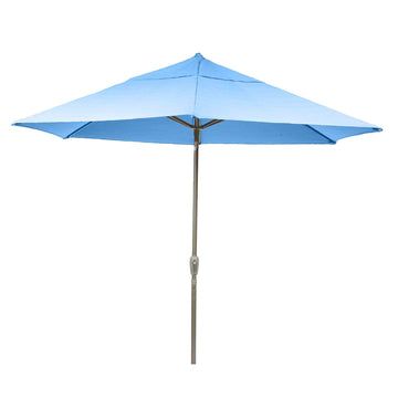 Bracken Outdoors Soleil Blue 2.2m Crank and Tilt Graphite 34mm Pole Round Garden Parasol