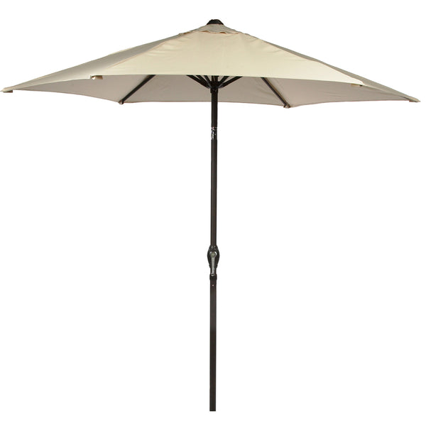 Bracken Outdoors  2.2m Crank and Tilt Graphite 34mm Pole Round Garden Parasol - Cream