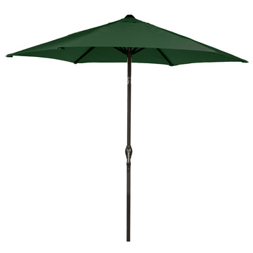 LG Outdoor Soleil 2.7m Crank and Tilt Graphite 34mm Pole Round Garden Parasol - Forest Green