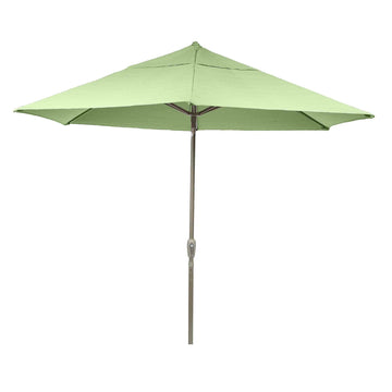 Bracken Outdoors  Soleil Green 2.7m Crank and Tilt Graphite 34mm Pole Round Garden Parasol