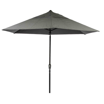 LeisureGrow Soleil 2.7m Crank and Tilt Graphite 34mm Pole Round Garden Parasol - Grey