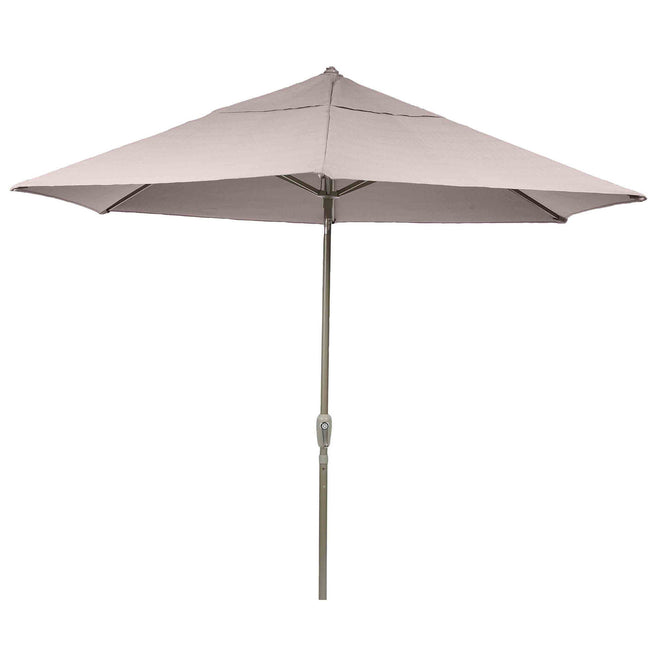 LG Outdoor  Soleil 2.2m Crank and Tilt Graphite 34mm Pole Round Garden Parasol - Taupe