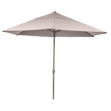 Bracken Outdoors Soleil Taupe 2.2m Crank and Tilt Graphite 34mm Pole Round Garden Parasol