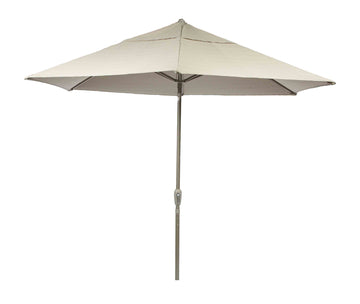 Bracken Outdoors Soleil Beige 2.7m Crank and Tilt 34mm Graphite Pole Round Garden Parasol