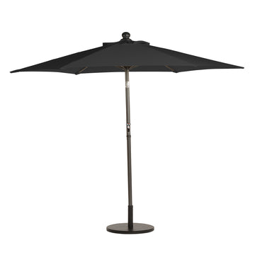 Bracken Outdoors Black 2.7m Crank and Tilt 34mm Graphite Pole Round Garden Parasol