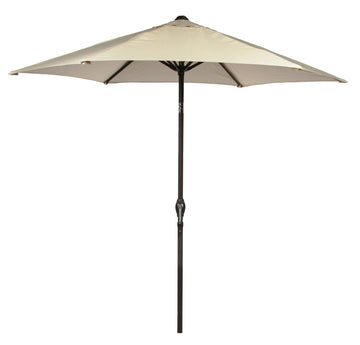 Harbo Ecru 2.7m Crank and Tilt Round Garden Parasol Graphite pole