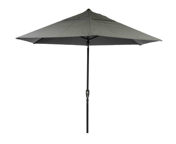 Bracken Outdoors Soleil Grey 2.7m Crank and Tilt 34mm Graphite Pole Round Garden Parasol