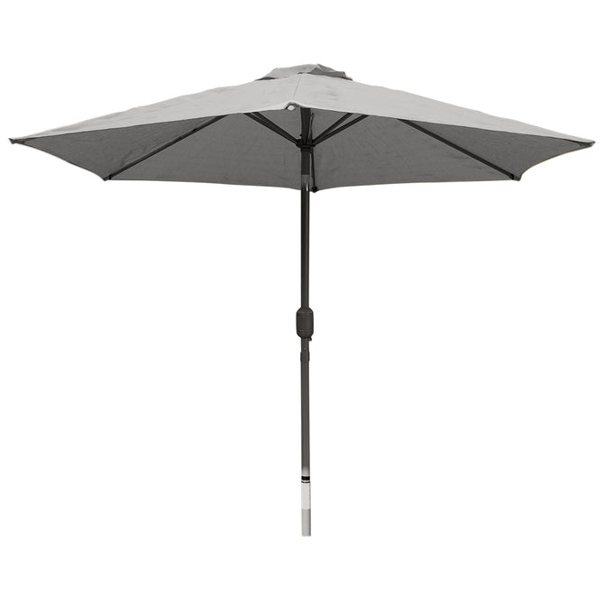 LG Outdoor Horizon 2.5m 38mm Aluminium Graphite Pole Round Garden Parasol - Grey