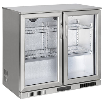 Draco Grills Avalon Outdoor Kitchen Stainless Steel Double Bar Fridge