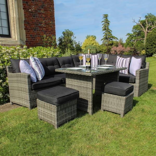 Robert Charles Albany High Corner Outdoor Lounge Sofa Set