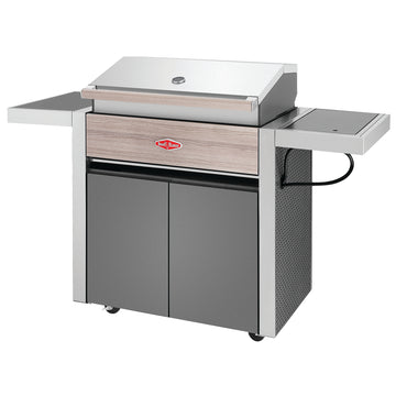 BeefEater 1500 Series 4 Burner Gas Barbecue with Cabinet Trolley and Side Burner