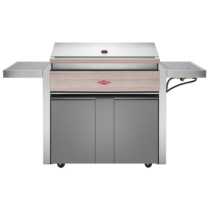 BeefEater 1500 Series 5 Burner Gas Barbecue with Cabinet Trolley and Side Burner