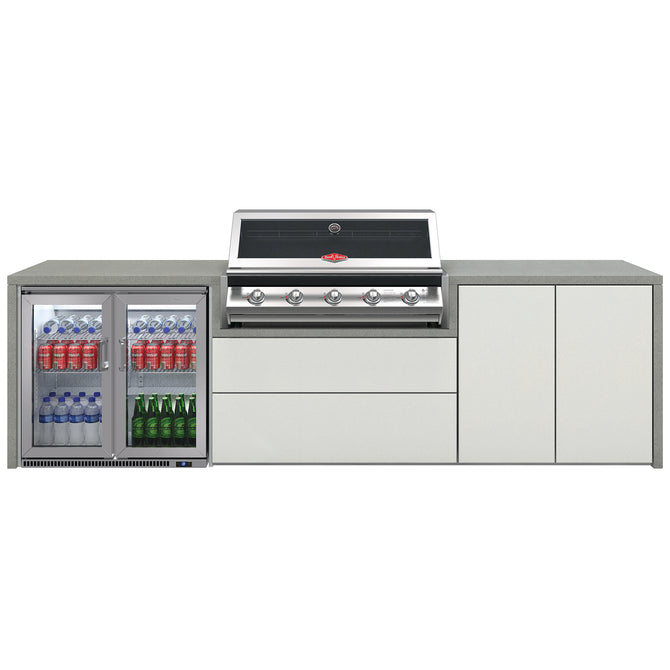 BeefEater Signature 5 Burner Alfresco Kitchen with Double Fridge