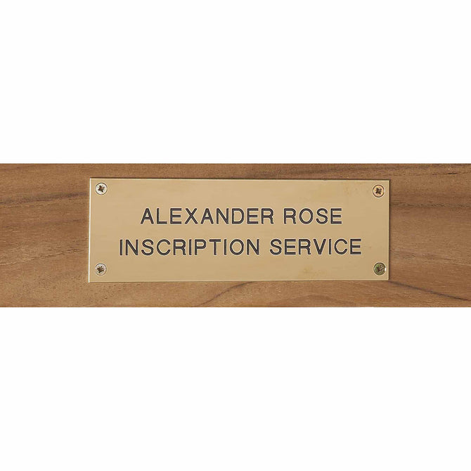 Alexander Rose Brass Engraving Plate