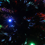 Multicoloured Fibre Optic Black Christmas Tree with LED lights - 2ft, 3ft, 4ft, 5ft, 6ft