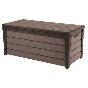 Keter Brushwood Garden Storage Box 455L - Grey