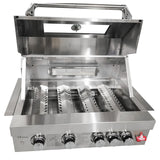 Draco Grills Z440B Deluxe 4 Burner Stainless Steel Build In Gas Barbecue
