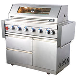 Draco Grills Z640 Deluxe 6 Burner Stainless Steel Gas Barbecue with Cabinet