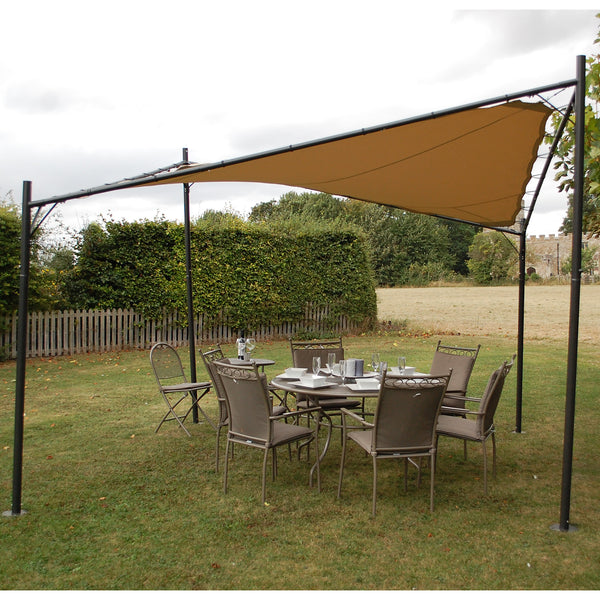Lg Outdoor Rodin 3 5m Sail Awning And Poles Beige