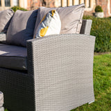 Bracken Outdoors Dakota Rattan Rectangular Casual Dining Set with Truffle Cushions