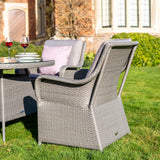 Bracken Outdoors Washington 6 Seat Round Rattan Garden Furniture Set 1.35m