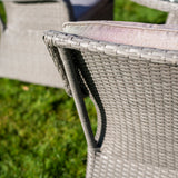 Bracken Outdoors Washington 4 Seat Round Rattan Garden Furniture Set 1.1m