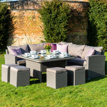 Bracken Outdoors Dakota Rattan Casual Dining Set with Truffle Cushions