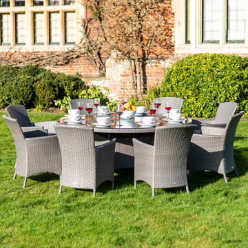 Bracken Outdoors Indiana 8 Seat Round Rattan Garden Furniture Set 1.8m