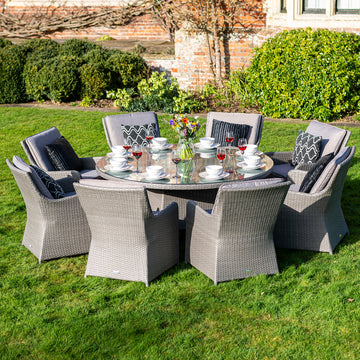 Bracken Outdoors Georgia 8 Seat Round Rattan Garden Furniture Set 1.8m