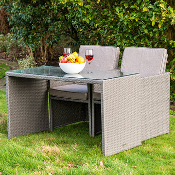 Bracken Outdoors Dakota 2 Seater Rattan Garden Furniture Cube Set