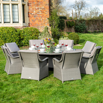 Bracken Outdoors Washington 8 Seat Round Rattan Garden Furniture Set 1.8m