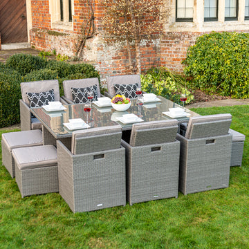 Bracken Outdoors Dakota 6 - 10 Seater Rattan Cube Set