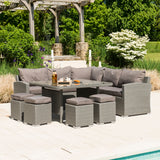 Alexander Rose Bespoke Casual Dining Set Grey/Truffle