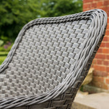 Bracken Outdoors Bewley 4 Seater Weave Armchair Round Set - Slate