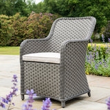 Bracken Outdoors Donnington Bistro 2 Seater Woven Armchair Round Set - Slate