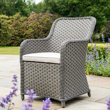 Bracken Outdoors Windsor 6 Seater Weave Armchair Oval Set - Slate