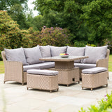 Bracken Outdoors Ludlow Casual Dining Set with Adjustable Table - Beige