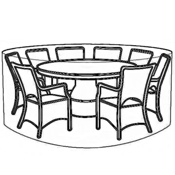 LG Outdoor 8 Seat Round Garden Furniture Set Deluxe Cover
