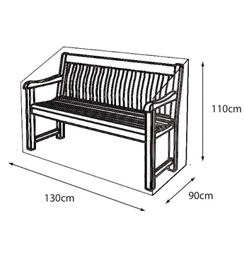 LG Outdoor 2 Seat Bench Deluxe Cover
