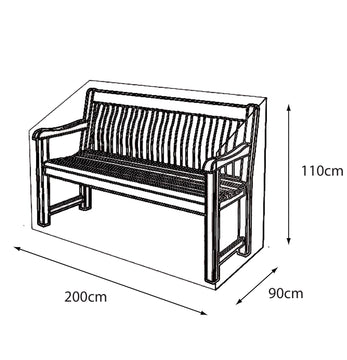 LG Outdoor 3 Seat Bench Deluxe Cover