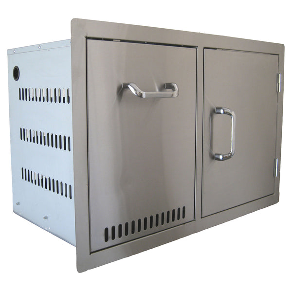 Beefeater Stainless Steel Build-in Outdoor Kitchen Gas Bottle Drawer and Single Door Unit