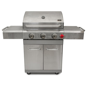 Barbecue Chef G300 3 Burner Stainless Steel Gas Barbecue with Cabinet