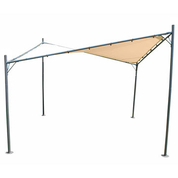 LeisureGrow Rodin 3.5m Sail Awning and Poles - Beige