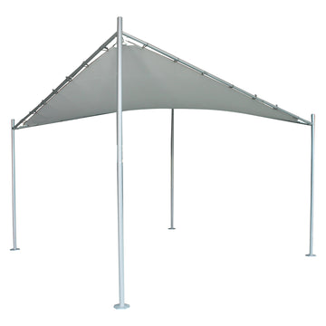 LG Outdoor Rodin 3.5m Sail Awning and Poles - Grey