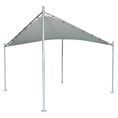 LeisureGrow Rodin 3.5m Sail Awning and Poles - Grey