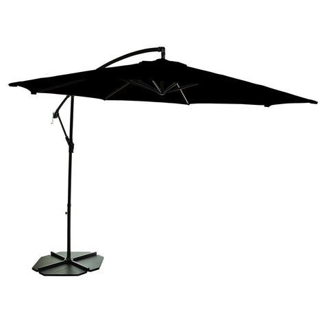 Bracken Outdoors 3m Round Black Cantilever Garden Parasol