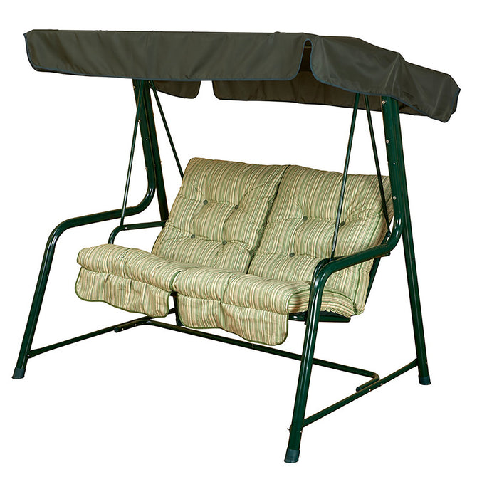 Bracken Outdoors Cotswold Stripe Vienna 2 Seat Garden Swingseat