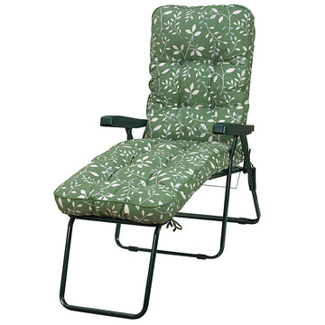 Bracken Outdoors Deluxe Country Green Lounger Garden Chair