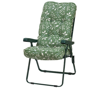 Bracken Outdoors Deluxe Country Green Recliner Garden Chair